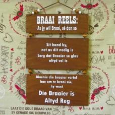 Wooden Sign - Braai Reels
