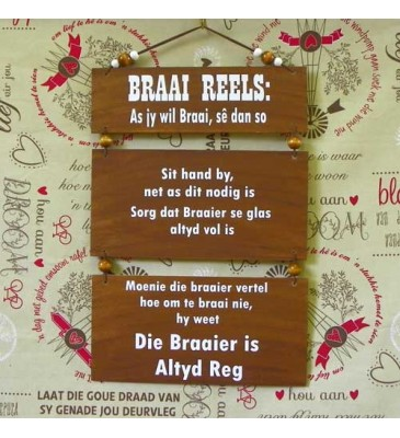 Wooden Sign - Braai Reels