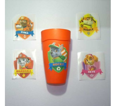 Paw Patrol - Party Cup Stickers