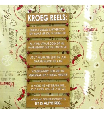 Wooden Sign - Kroeg Reels