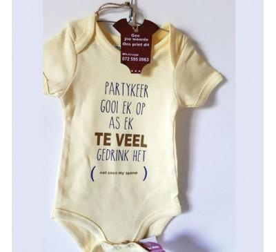 Baby Grow - Partykeer gooi ek