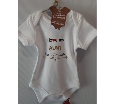 Baby Grow - Love Aunt