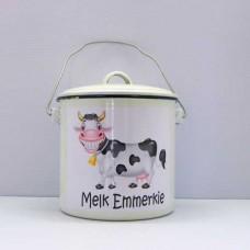 Enamel Ware - Bêre Blikkies - Melk Emmerkie