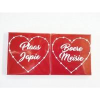 Ceramic Tile Coasters - Plaas Japie & Boere Meisie