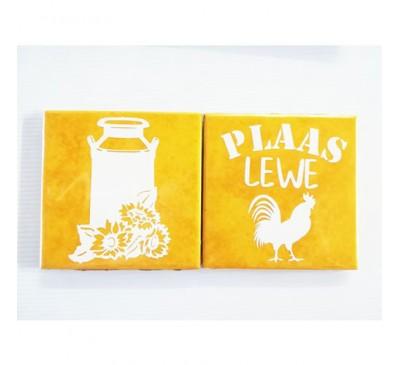Ceramic Tile Coasters - Plaaslewe