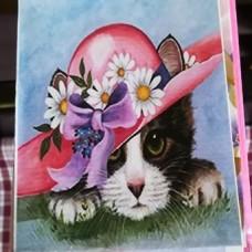 Diamond Dot - 20cm x 30cm - Cat with Hat