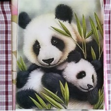 Diamond Dot - 20cm x 30cm - Panda