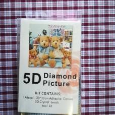 Diamond Dot - 30cm x 30cm - Teddy Bear