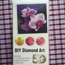 Diamond Dot - 30cm x 30cm - Purple Flower
