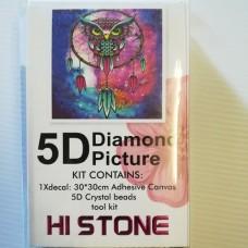 Diamond Dot - 30cm x 30cm - Dreamcatcher Owl