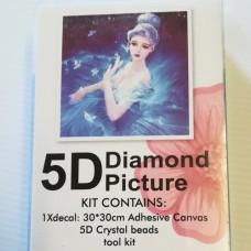 Diamond Dot - 30cm x 30cm - Blue Fairy