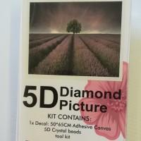 Diamond Dot - 65cm x 50cm - Tree in Lavender Fields