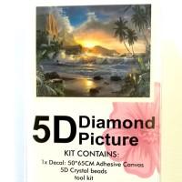 Diamond Dot - 65cm x 50cm - Beach