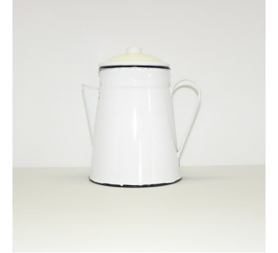 Enamel Ware - White - Coffee Pot