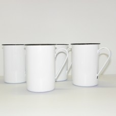 Enamel Ware - White - Tall Mugs