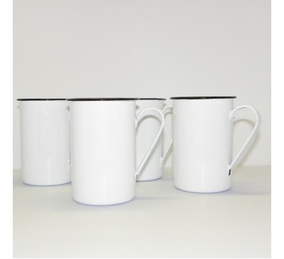 Enamel Ware - White - Tall Mugs
