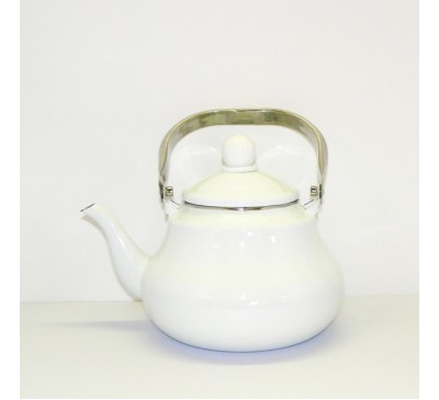 Enamel Ware - Teapot - White