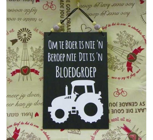 Wooden Sign - Bloedgroep