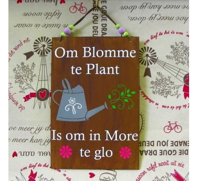 Wooden Sign - Blomme Plant