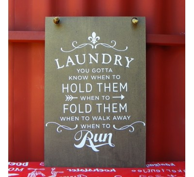 Wooden Sign - Laundry 1