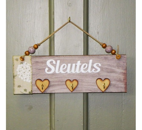 Wooden Sign - Sleutels 4