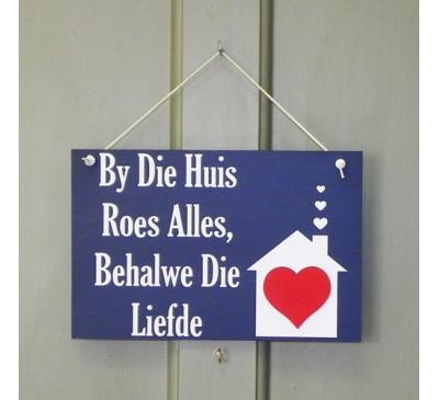 Wooden Sign - Geroeste Liefde 2